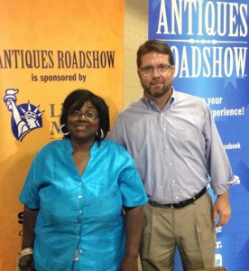 Brandon and Ms. Betty at the Antique Road Show