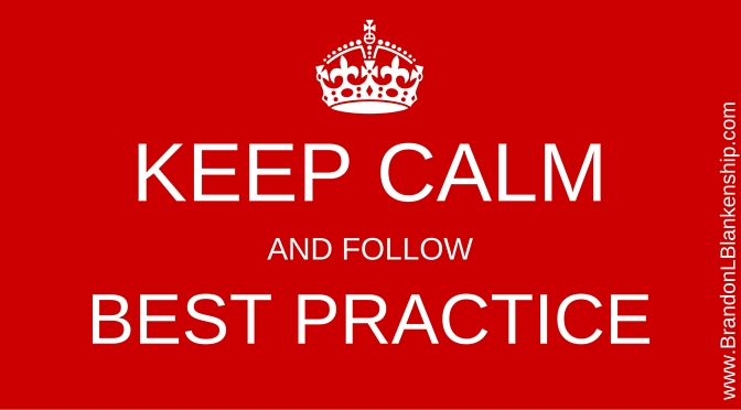 Best Practice Keep Calm Image